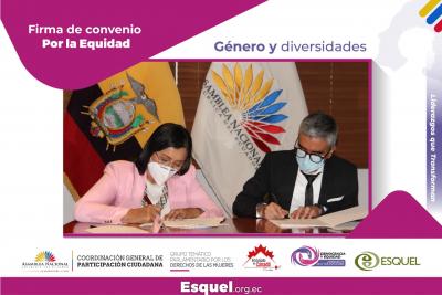 Fundación Esquel y la Asamblea Nacional firman convenio a favor de la equidad