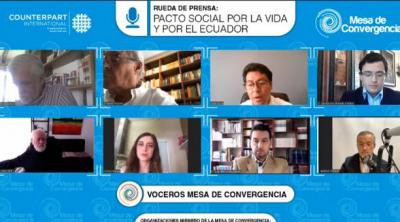 Mesa de Convergencia plantea un pacto social para enfrentar crisis