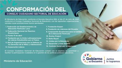 Se conforma el Consejo Ciudadano Sectorial de Educación