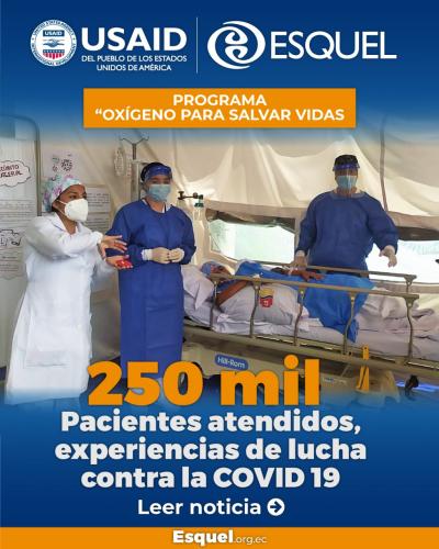 """250 mil pacientes atendidos, experiencias de lucha contra la COVID  del programa """"Oxígeno para salvar vidas"""