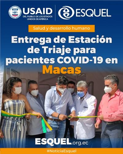 Con apoyo del Programa Oxígeno para salvar vidas, el Hospital General de Macas implementa estación de oxigenoterapia para pacientes COVID-19