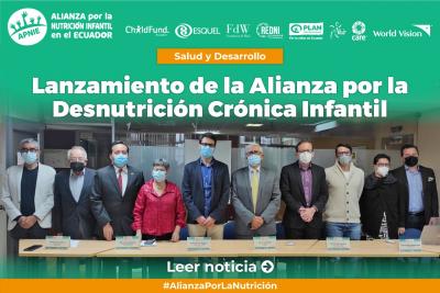 Alianza por la Desnutrición Crónica Infantil, respuesta para la protección de la niñez y adolescencia en el país