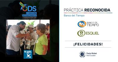 Esquel recibe reconocimiento por sus prácticas en Desarrollo Sostenible con la iniciativa 'Banco del Tiempo'