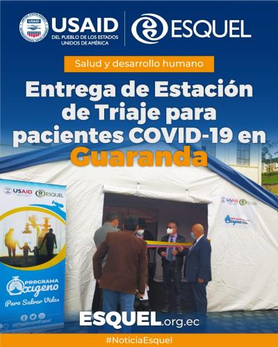 Con apoyo del Programa Oxígeno para salvar vidas, el Hospital General Alfredo Noboa Montenegro de Guaranda implementa estación de oxigenoterapia para pacientes COVID