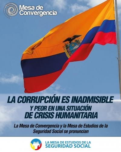 La corrupción es inadmisible y peor en una situación de crisis humanitaria